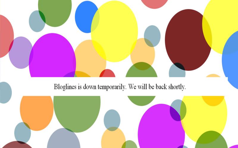 Bloglines down