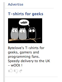 Facebook tshirts4geeks